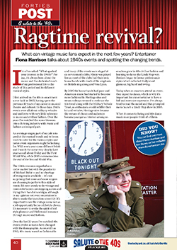 Fiona Harrison Best of British April 2015 - Ragtime Revival