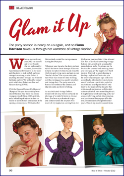 The Magazine Commissioned Her To Write A Fashion Follow Up On Vintage Glamour Which Was Published In October 2012 Read Articles Click Each