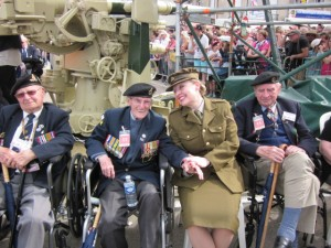 Me with the Normandy Veterans in Arromanches