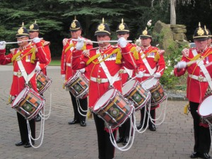 The Pipe and Drums at Weetwood Hall!