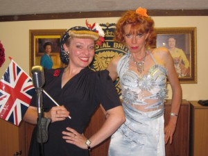 On stage with Lynda at the RBL in Chingford!