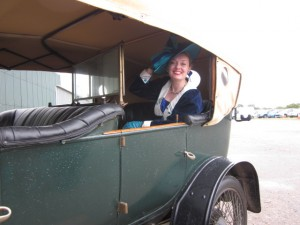 Me Sitting in a 1912 Crossley T5!