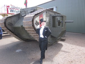 Me with the Mark IV Tank!