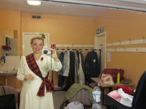 Me in my Dressing Room at Falkirk!
