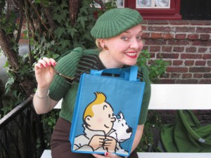 Me Out and About in Brugge with Tin tin and Snowy!