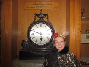 By the Great Clock at Nightingale House!