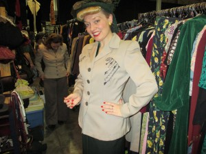 Trying on Vintage Clothes at Militaria!