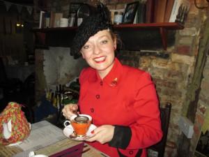 Fiona Harrison at 19 Fourteas Tearoom