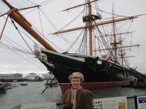 Me by HMS Warrior!