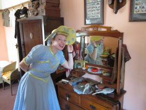 All Set for My Easter Bonnet Show in the 40s House!