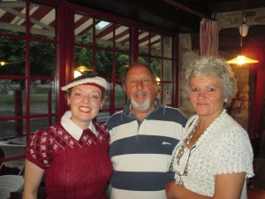 Dinner with D Day and Bev!