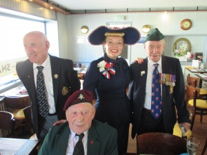 Out and About with Veterans in Arromanches!