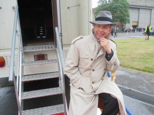 Paul as Paul Roebin by the Mobile Cinema!