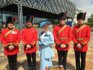 Me with the Royal Signals and Mercian Band