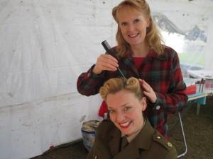 Karen doing my Hair!