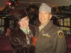 Fiona Harrison and Paul Marsden in 1940s Costume