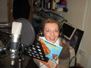 Fiona harrison in the Recording Studio