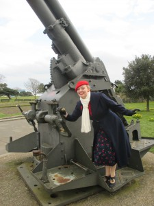 Fiona Harrison at the D-Day Mesuem