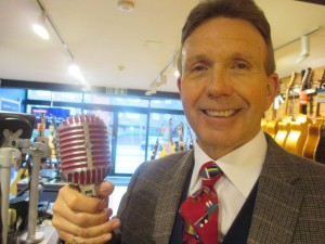 Paul Marsden and his microphone