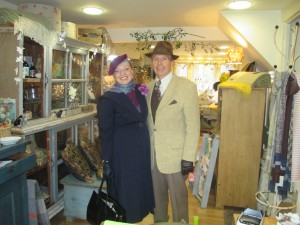 Fiona Harrison and Paul Marsden shopping in Woburn