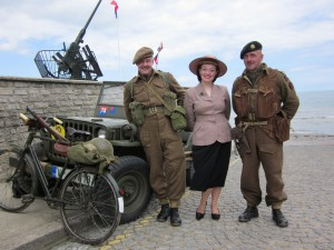 Fiona Harrison in Arromanches