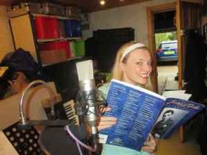 Fiona Harrison in the Recording Studio!