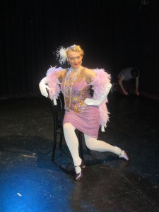 Fiona Harrison on stage at the Limelight theatre