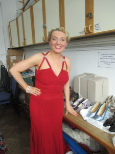 Fiona Harrison backstage at the Limelight Theatre Aylesbury