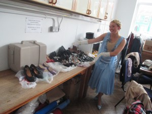 Fiona Harrison with her shoes