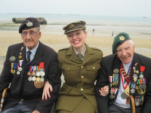Len, Harry and I in Arromanches