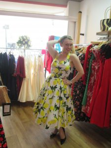Trying on Frocks at Flamingo Frocks!