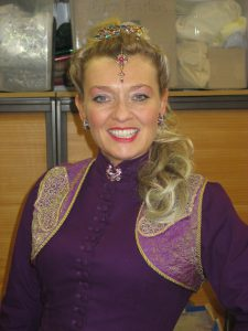 Backstage in My Mallika Costume!