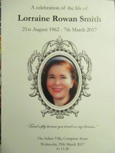 Lorraine Rowan Smith!
