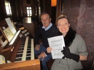 Fiona Harrison Rehearsing Ave maria
