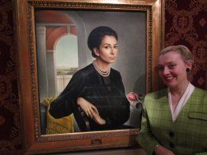 Fiona Harrison with Maria Callas at La Scala