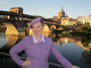 Fiona Harrison in Pavia, Italy