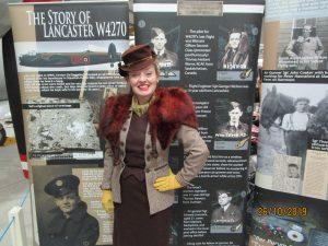 Fiona Harrison in 1940s Costume Newark