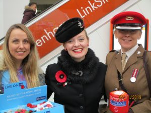 Fiona Harrison Collecting for the Poppy Appeal