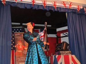 Fiona Harrison on stage at Maulden Village Hall