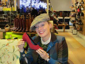 Fiona Harrison in Hotters Shoe Shop