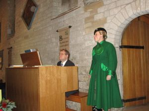 Fiona Harrison at St Mary's Church Portchester