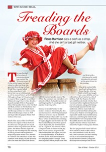 Fiona Harrison Best of British October 2014 Article - Treading the Boards