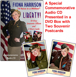 Fiona Harrison - Liberty! A special commemorative audio CD presented in a DVD box with two souvenir postcards