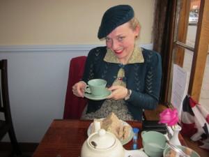 Me at The Four Teas Tea Room i