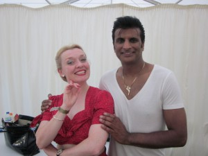 After the show! Me with Sal Bashir the Asian Elvis!