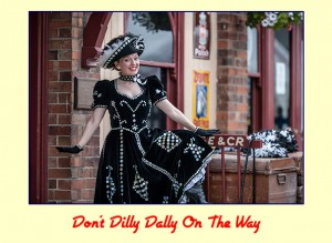 Fiona Harrison Pearly Queen Don't Dilly Dally On The Way