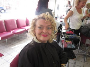 Me at the Hair Dressers Getting Ready for my Photo Shoot!