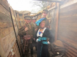 Me in a WW1 Trench at Swarbridgeworth!