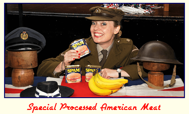 Key Stage 2 History Shows - Fiona with some Special Processed American Meat!