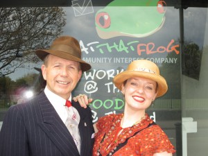 """Paul and I at """"Eat That Frog"""" in Paignton!"""